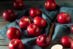 Red Organic Macintosh Apples Ready to Eat