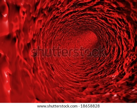 Red organic tunnel