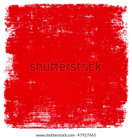Red Paint Grunge - stock photo