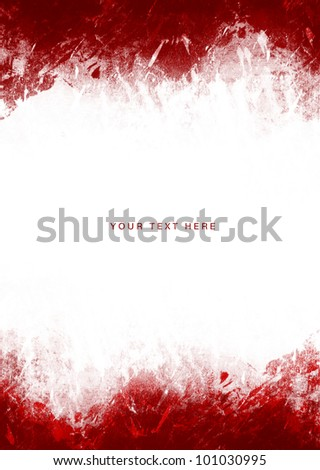 Red Paint Splashes frame on a white background