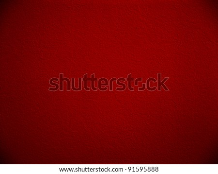 Red paint wall.