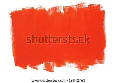 Red painted wall