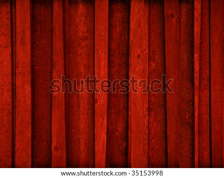 red painted wooden plank background