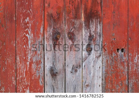 red painted wooden planks texture