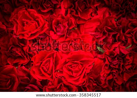 red paper rose background, water paint background concept : background for love product, valentine day, love couple, wedding back drop use computer program decorate photo to water paint