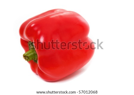 Red paprika isolated on white, studio shot Photo stock ©