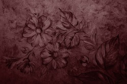 Red Pear texture decorative Venetian stucco for backgrounds