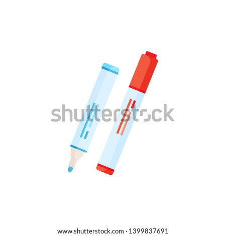 red pen blue pen ink object tool object school