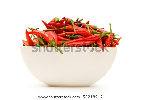 Red peppers isolated on the white background