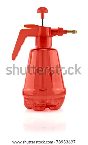 Red pesticide Sprayer. Isolated on white background