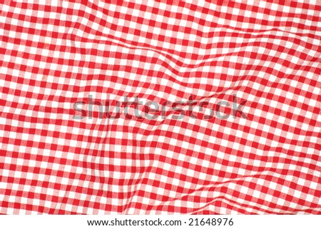 Red picnic cloth - red and white checks