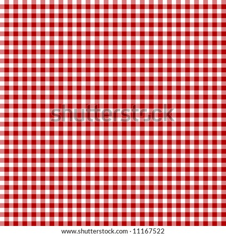 Red picnic fabric with straight lines