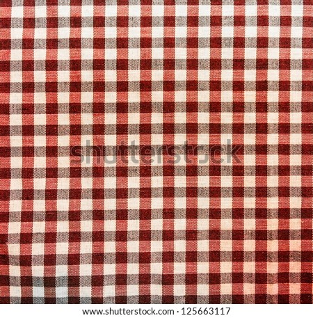 Red picnic tablecloth texture