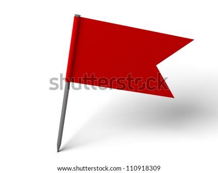 Red Pin Flag over white floor