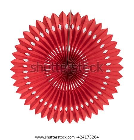 Red Pin Wheel Lantern