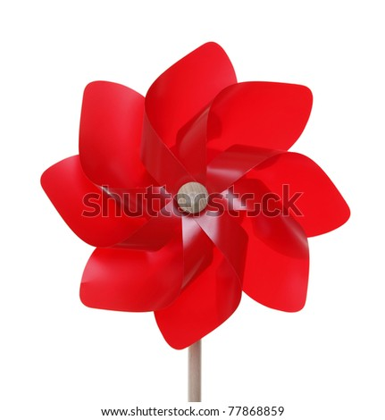 Red pinwheel toy