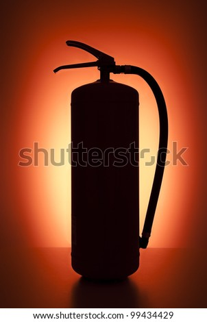 Red plain fire extinguisher