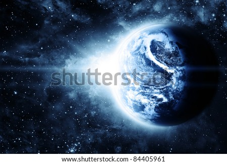 Stock Photo red planet in beautiful space