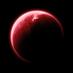Red Planet Isolated - Elements of this image furnished by NASA