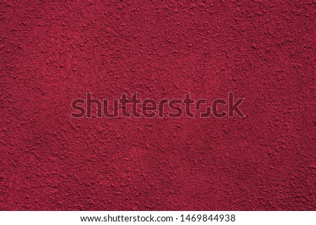 Red plastered wall for background use. #1469844938