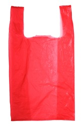 Red Plastic bag isolated on white background