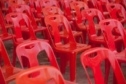 Red Plastic chairs