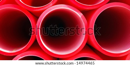 Red plastic tube