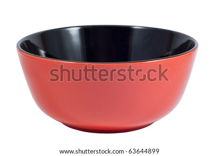 Red plate. Isolated on white background with clipping path.