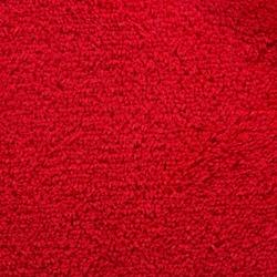 Red plush fleecy blanket texture