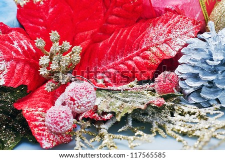 Red Poinsettia, Christmas Flower decoration