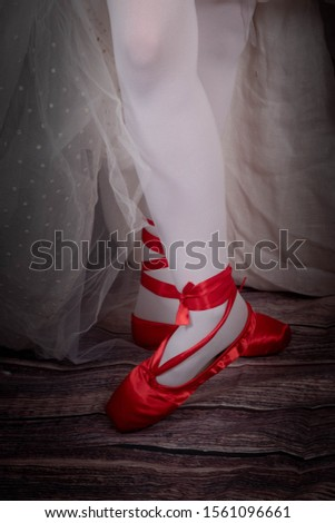 Red pointe shoes by Andersen, This is an old popular story. #1561096661