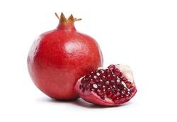 Red Pome fruit white background