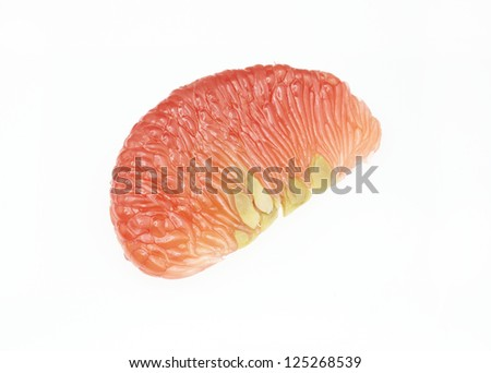 red pomelo fruit on white Backgorund