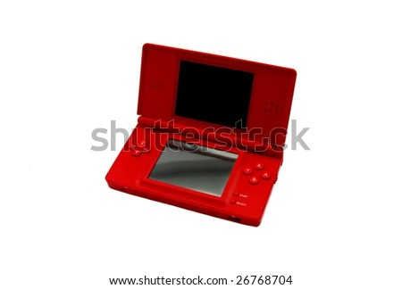 red portable video game...