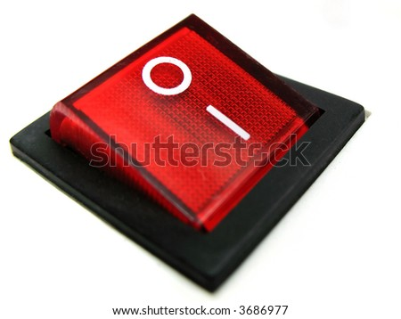 red power switch in on position