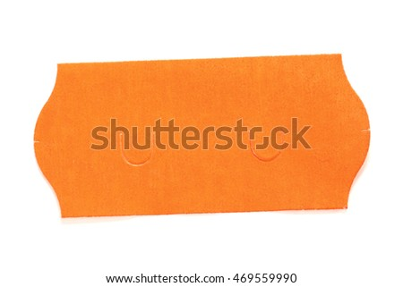 red price sticker isolated on white background #469559990