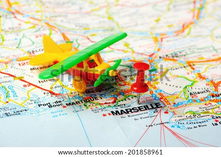 Free photos map with pin point of marseille in france avopix red push pin pointing at marseille france map and airplane 201858961 gumiabroncs Image collections
