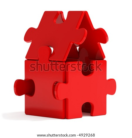 Red Puzzle Home
