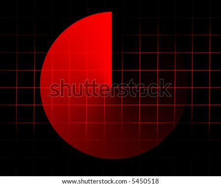 Red radar screen