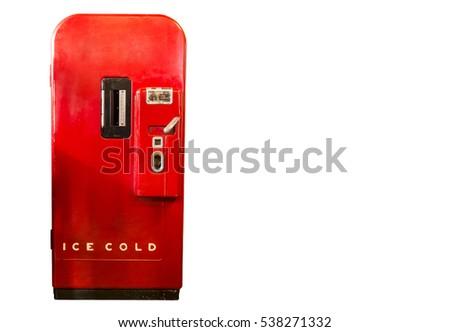 red refrigerator in retro style....