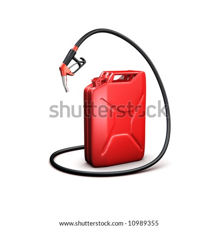 red refueling hose and gas can