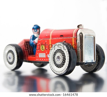 red retro race car
