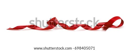 Red ribbon isolated on white background #698405071