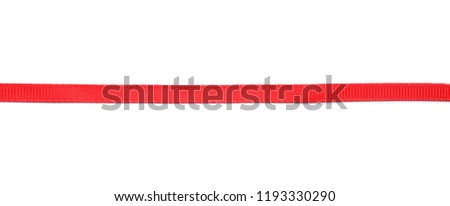 Red ribbon on white background #1193330290