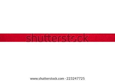Red ribbon on white background with clipping path. #223247725