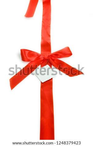 Red ribbon Red ribbon  #1248379423