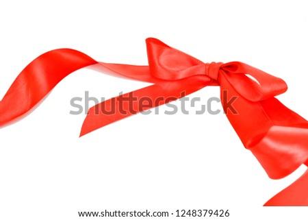 Red ribbon Red ribbon  #1248379426