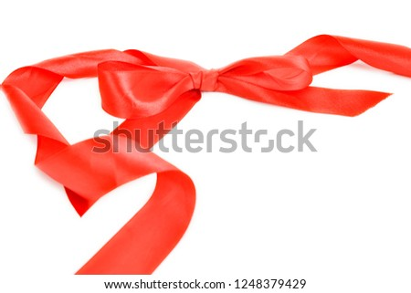 Red ribbon Red ribbon  #1248379429