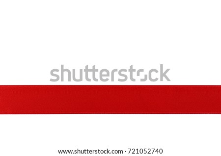 red ribbon template for gift isolated on white background #721052740