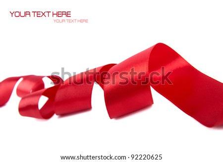 Red ribbon with white space for your text